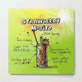 Strawberry_Mojito_002_by_JAMFoto Metal Print