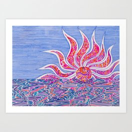 Hectic Sunset Art Print
