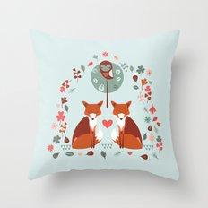 Fox Archway Throw Pillow