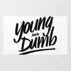 young & dumb Rug