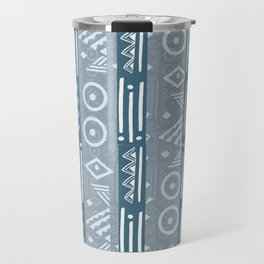 Polynesian  Blue Beach Print Travel Mug