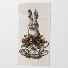 Rabbit in a Teacup Beach Towel
