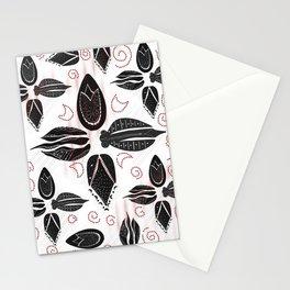 Ottoman tulips black floral pattern Stationery Cards