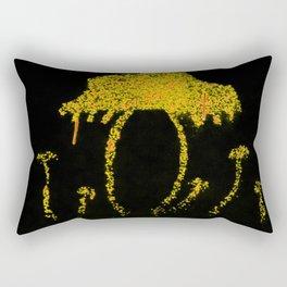 Shrooms Yellow  Rectangular Pillow