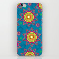 Moroccan Flower Blue iPhone & iPod Skin