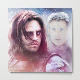 Winter Soldier - The Angel On My Shoulder (Steve and Bucky) Metal Print