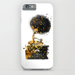 Gramophone music art #gramophone #music iPhone Case