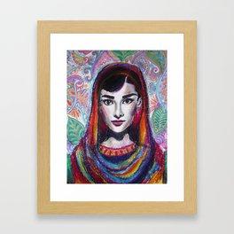 Hijabi Hepburn Framed Art Print