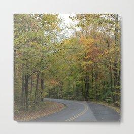 Frozenhead Road - Green - Square Metal Print