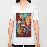 jack nicholson V-neck T-shirts featuring jack nicholson  by zarna