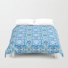 Summer Vibes Tie Dye in Lagoon Blue Duvet Cover