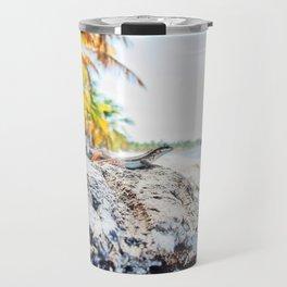 lizard at the beach Travel Mug