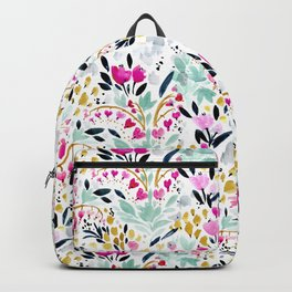 Two Hearts Beat as One Floral Backpack