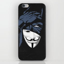 V For Bat (B Edition) iPhone Skin