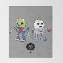 Zombie+Bot Throw Blanket