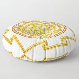 Sri Yantra - Golden Yellow Floor Pillow