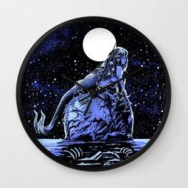 Mermaid Skull Wall Clock