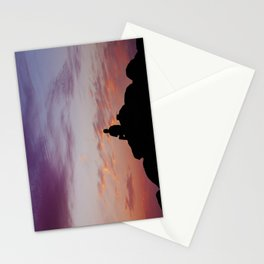 Man Enjoying Sunset II Stationery Cards
