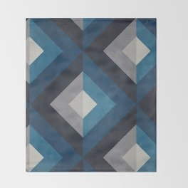 Greece Hues Diamond Throw Blanket