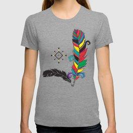 Boho Festive Feathers T-shirt