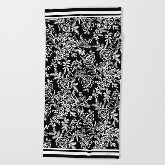 Full Moon Tea Beach Towel