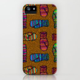 COLORFUL MITTENS ON MUSTARD YELLOW iPhone Case