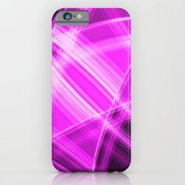 Neon strokes with pink diagonal lines from intersecting bright stripes of glow.  iPhone Case