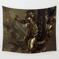 antique Wall Tapestries featuring Antique angel by Isabelle Savard-Filteau