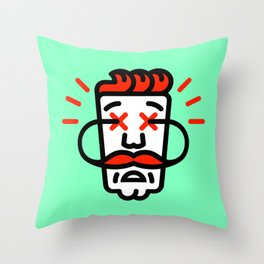 Hipster Hazard Throw Pillow