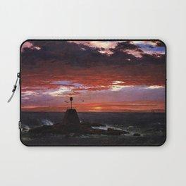 Beacon off Mount Desert Island, Maine by Frederic Edwin Church Laptop Sleeve