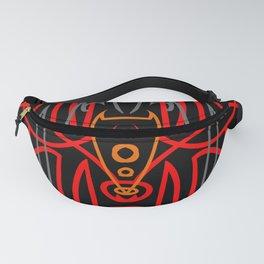 Voodoo Mask On Black Fanny Pack