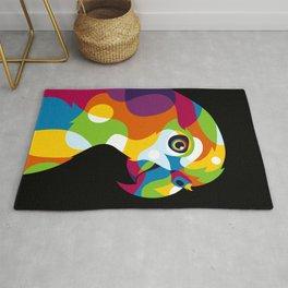 Colorful Parrot Pop Art Rug