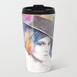 Girl with Headdress Travel Mug