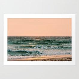 Pink Skies Ocean Vibes Art Print