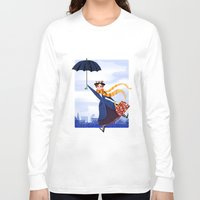 mary poppins Long Sleeve T-shirts featuring Mary Poppins by giovanamedeiros