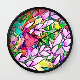 Grunge Art Floral Abstract G130 Wall Clock