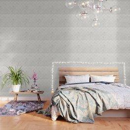 Golden Marble Square Floor Pattern Wallpaper