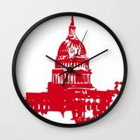 washington dc Wall Clocks featuring Washington DC  by ialbert