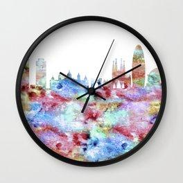 Barcelona Skyline Spain Wall Clock