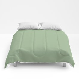 Solid Color SAGE GREEN Comforters
