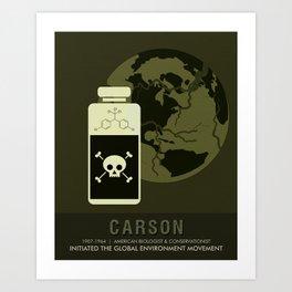 Science Posters - Rachel Carson - Biologist, Conservationist Art Print