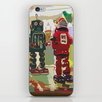 robots iPhone & iPod Skins featuring Robots by Five Ate Five Studios