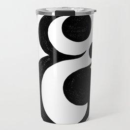 Hand Drawn Ampersand Travel Mug