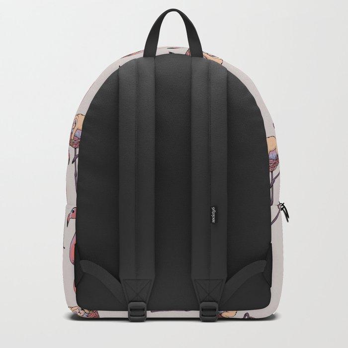 Flamingo and Sloth Backpack