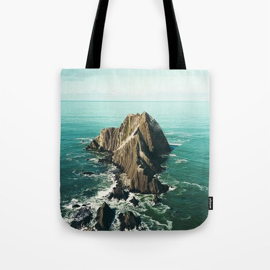 Island green sea Tote Bag