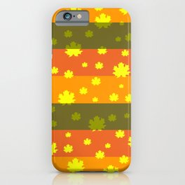 Golden autumn leaves iPhone Case