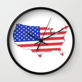 USA map Wall Clock