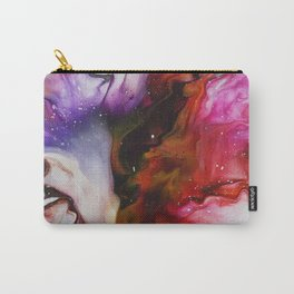 Fluid Acrylic Flower Carry-All Pouch