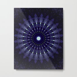 Dark blue mandala Metal Print