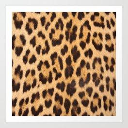 primitive trendy stylish fashionable safari animal leopard Art Print